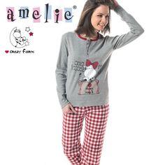 Amelie Βαμβακερή Πυτζάμα Με Κουμπιά   Στάμπες - Χειμώνας 2015 25f4e369f36