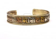 3 Colored Metal Torque Bangle From Nepal