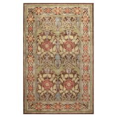 Anchor your living room seating group or define space in the den with this loomed polypropylene rug, featuring a botanical-inspired motif for timeless appeal...