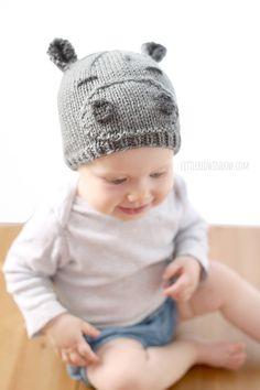 Happy Hippo Hat Knitting Pattern!   littleredwindow.com