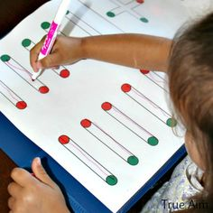 Simple preschool handwriting worksheets strengthen fine motor skills and confidence with a writing utensil. Print these handwriting worksheets off today!