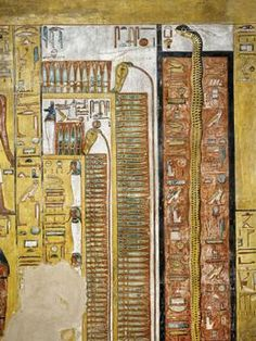 Egypt, Thebes. Luxor, Valley of the Kings. Tomb of Seti I (1304 – 1290 B.C., 19th dynasty), four-pillared chamber.