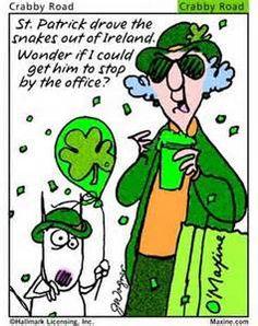 St. Patrick's Day-Crabby Road Maxine Cartoon