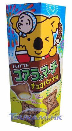 Lotte Koala No March Banana Milk Biscuits Cookies