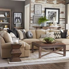 love the room separation this between the kitchen breaknookkeeping room and the living room for the home pinterest keeping room living rooms and