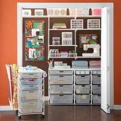 The Container Store > White elfa Craft Closet - think I need to make an investment!