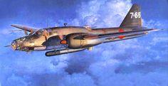 Mitsubishi Ki-67 Type 4 Heavy Bomber Hiryu 'Peggy', by Shigeo Koike