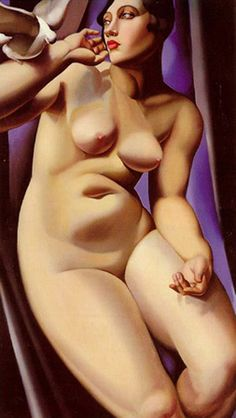 tamara de lempicka Nude with Dove 1928 print for sale. Shop for tamara de lempicka Nude with Dove 1928 painting and frame at discount price, ships in 24 hours. Pinturas Art Deco, Tamara Lempicka, Moda Art Deco, Estilo Art Deco, Art Deco Stil, Art Deco Movement, Art For Art Sake, Pablo Picasso, Figure Painting