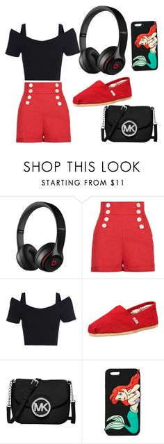 """""""Untitled #8"""" by andreina02 ❤ liked on Polyvore featuring Beats by Dr. Dre, TOMS, MICHAEL Michael Kors and Forever 21"""