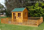 Chipmonk Kindy Gym Cubby House Australian-Made Wooden Playground Equipment DIY Kits