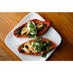 Sweet Potato Skins with Chicken and Spinach use fake chicken - The Beachbody Blog