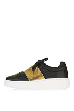 These are so cool - TURIN Metallic Elastic Sneakers - Topshop USA