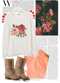 Floral, pastel, and combat boots:) if my wardrobe consisted of just these id be happy:)