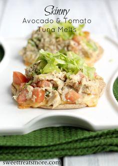 Skinny Avocado and Tomato Tuna Melts