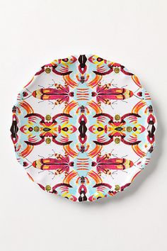 I love employee appreciation days! I got these on SALE with another 50% off. at $2 a piece? I bought a lovely set for the whole kitchen.    Kaleidobug Melamine Plate #anthropologie
