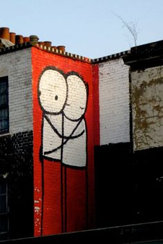 Love, hugs, and cute. Stik on the streets of Hackney, London!