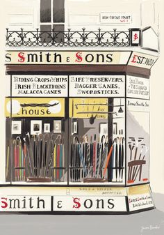 James Smith and Sons from London Sketchbook by Jason Brooks
