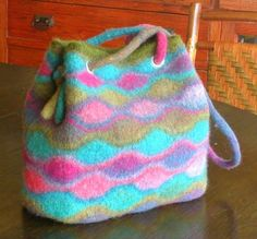 beautiful felted wool bag for summer
