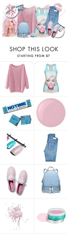 """Bubble Gum"" by li-lilou ❤ liked on Polyvore featuring Essie, Sugarpill, AG Adriano Goldschmied, Keds, MICHAEL Michael Kors, Topshop, Patchology and Christian Louboutin"