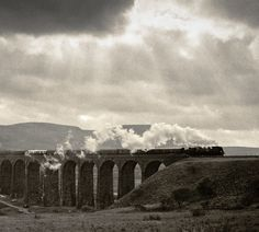 Ribblehead viaduct near Horton in Ribblesdale North Yorkshire Yorkshire Dales, North Yorkshire, Train Tracks, Train Rides, The Beautiful Country, Beautiful Places, Ribblehead Viaduct, Pictures Of England
