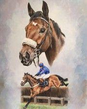 Dual Portraits | Racing Prints | Art for horse lovers - horses for art lovers | Caroline Cook Artist