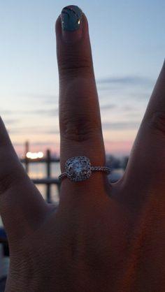 My Cushion cut diamond engagement ring