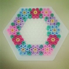 Floral wreath hama beads by amberfaithhill