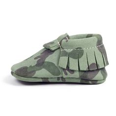 Freshly Picked Moccasins in Green Camo