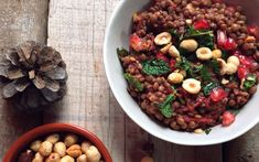 <p>This nourishing lentil salad is combines the flavors and textures of hazelnuts, beets, tart pomegranate, and fresh mint in a meal that won't leave you wanting. The ginger and apple cider vinegar dressing compliments the earthy and savory flavors. </p>
