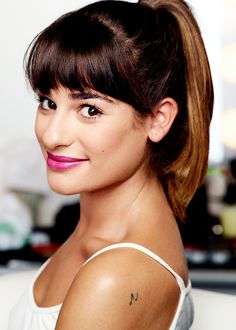 Lea Michele /Brunette Ambition...I love her hair like this!!