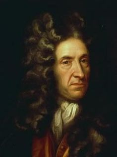 Daniel Defoe Novelist. Born in the parish of Cripplegate, as Daniel Foe adding the 'de' latter, for effect. Published 'Robinson Crusoe' in 1719, considered by some to be the first novel in English. His grave with monument is in Bunhill Fields.