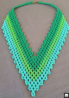 Beaded Jewelry, Beaded Necklace, African Necklace, Beaded Embroidery, Turquoise Necklace, Fashion Outfits, Crochet, Earrings, Crafts