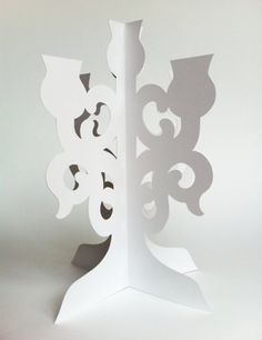 Cardboard chandelier template the chandelier body comprises 2 cardboard cutout candlebra mozeypictures Images