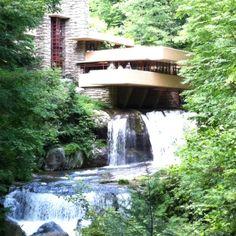 Falling Water, a Frank Lloyd Wright home. Pennsylvania.