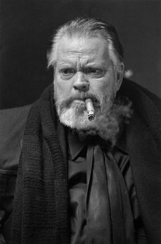 Orson Welles at the Orson Welles Cinema in Cambridge, MA (in the Boston area for the American premiere of his movie, F for Fake and a show at Symphony Hall)