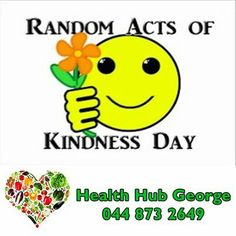 Today we celebrate Random acts of Kindness - Take this week to step out of your normal routine or comfort zone and attempt a new random act of kindness each day of the celebratory week. #RAK #kindness