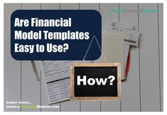 Financial Modeling, Easy To Use, Investors, Banks, Finance, Templates, Learning, Business, Tips