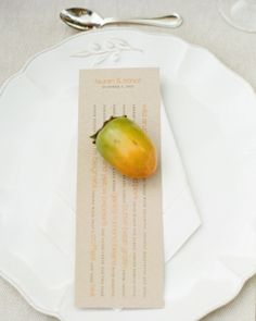 Persimmon treatment with Menu