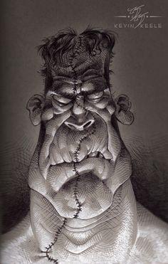 ArtStation - Frank, Kevin Keele Character Sketches, Character Design References, Character Drawing, Sketchbook Drawings, Art Sketches, Art Drawings, Cartoon Drawings, Cartoon Art, Frankenstein Art