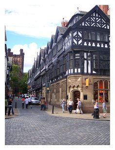 Chester is the county town of Cheshire, England. Situated on the River Dee, is one of the best-preserved walled cities in the UK. Best Places To Move, Places To Travel, Places To See, England And Scotland, England Uk, Places In England, Manchester, Walled City, English Countryside