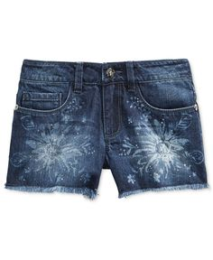 Guess Little Girls' Destructed Daisy Denim Shorts Denim Jeans Men, Denim Shorts, Ladies Trends, Diy Clothes, Clothes For Women, Types Of Jeans, Girl Bottoms, Printed Denim, Denim Trends