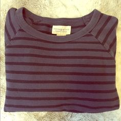 "✨HP✨ Ralph Lauren Denim & Supply Navy Stripe Top Classic navy stripe pullover sweatshirt from Ralph Lauren - what a great piece! Tagged a medium but this is from their Denim & Supply line so it could fit a small or medium. Cozy baseball sleeves and loose fit. Light pilling throughout that isn't very noticeable. Host Pick ""Fashion Forward Fall"" 11/2/14. Ralph Lauren Tops Sweatshirts & Hoodies"