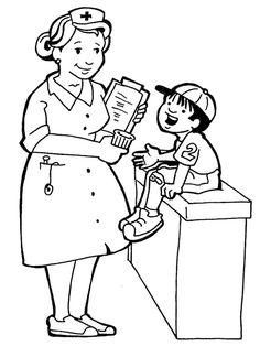 coloring pages for kids hospital doctors nurses | Nurse sabar melayan kerenah pesakit tak kesah la budak kecik or orang ...