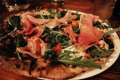 B-Soho, Soho. Amazingly thin Italian pizza and equally amazing cocktails.