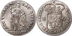 NumisBids: Schulman b.v. Auction 346, Lot 282 : Provinical - WEST-FRIESLAND Het Gewest 1581 - 1795 3 Gulden 1764,...