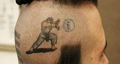 Street Fighter: Ryu Head Tattoo