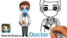 How to Draw a Doctor ❤️🏥 Health Care Hero Cartoon Smile, Cartoon Pics, Cartoon Drawings, Cartoon Picture, Cute Kawaii Drawings, Kawaii Doodles, Easy Drawings For Kids, Drawing For Kids, Drawing Ideas
