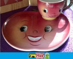 Apple plate with matching cup $20.00