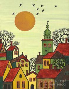 Cat Tree House, Naive Art, Whimsical Art, Indian Art, Oeuvre D'art, Kitsch, Fine Art America, Folk Art, Art Projects