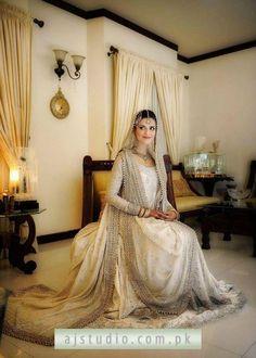 White Pakistani/Indian Bridal Gown